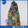 Design personalizado Impressão Digital Senhora lenço de seda
