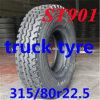 Pneumáticos do caminhão/pneumático de /TBR pneu da direção/pneumáticos sem câmara de ar (315/80r22.5 315/80 r22.5 315/80/R22.5)