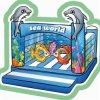 Beifall-Unterhaltungs-Seeweltthemenorientiertes aufblasbares Prahler-Unterhaltungs-Gerät