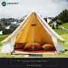 Im Freien Luxuxbaumwollsegeltuch-Familien-kampierende Rundzelte mit Ofen-Loch-Familien-kampierendem Zelt