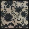 服のための黒い網のスパンコールの刺繍のレース