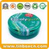Kundenspezifischer runder Metallminze-Zinn-Kasten für das Süßigkeit-Verpacken