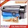 Impressora solvente do formato largo de Funsunjet Fs-3208K 3.2m com o pano de caixa principal da lâmpada da impressão quatro 512I