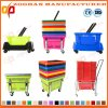 Panier à provisions en plastique de Portanle du meilleur supermarché coloré des prix (Zhb114)