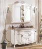 Luxuriöse Fußboden-Eichen-fester hölzerner klassischer französischer Badezimmer-Schrank (LZ-133)