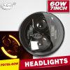 DRLのRoad Jeep 60W LED Driving Light Hi/Lo Beam 7inch LED Headlightを離れた4X4のため