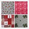 Tablecloth 100% do poliéster com o projeto do Natal impresso