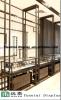검게 한 Steel Square Section Jewelry Watch Display Cabinet 및 Glass Jewelry Watch Display