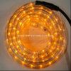クリスマスの薄黄色の2本のワイヤー水平LEDロープライト
