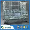 Dobrável e recipiente de depósito de malha de arame empilháveis