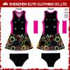Robes sexy de Netball de Lycra de polyester de dames neuves bon marché en gros de modèle (ELTNBJ-128)