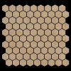 Esagonale di marmo delle mattonelle di mosaico di Crema Marfil smerigliatrice