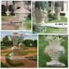 手で石造りの庭Flowerpot Granite Marble Vase Carved (YKFP-28)