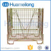 Depósito de armazenamento dobrável de metal de malha de preformas PET gaiola de metal