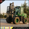 Multi FunctionsのRoad Forkliftを離れた5t Roughの地勢または