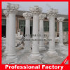 Hand Carved White Marble Column für Home Decoration