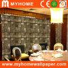 Papier peint décoratif imperméable à l'eau du vinyle 3D pour le restaurant