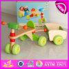 Cómodo triciclo de madera seguro para los niños, alta calidad sólida de madera de juguete niños Triciclo de Madera en venta W16A020