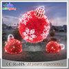 Luz ao ar livre da decoração do motivo do mapa da esfera da rua do diodo emissor de luz do feriado do Natal
