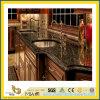 Partie supérieure du comptoir noire absolue Polished de granit de pierre normale pour la cuisine/salle de bains (YQC)