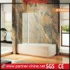 Estilo Simpe Flameless Banheira com chuveiro de vidro (Ecrã MYA6222)