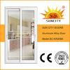 Алюминий ванной комнаты сползая нутряную дверь с стеклом (SC-AAD068)