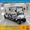 세륨에 의하여 승인되는 지도 배터리 전원을 사용하는 6 Seater 전기 골프 카트