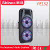 Altoparlante mobile di Bluetooth del carrello di karaoke del DJ LED del partito *2 di Shinco 15 ''