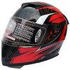点の承認の二重バイザーのオートバイの太字のヘルメット