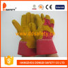 牛そぎ皮の手袋の綿背部安全手袋Dlc225