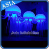 Свет медуз дешевого украшения случая цены раздувной с функцией цвета изменяя