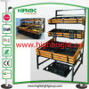 Supermercado Three Tiers Display Shelf Rack para Legumes Frescos