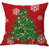 Van de Katoenen van de Sneeuwman van Kerstmis Kussensloop van het Huis van de Dekking van het Kussen Druk van het Linnen de Creatieve