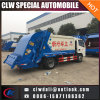 人エンジンを搭載する小さい6-8cbmガーベージ配達コンパクターのトラック