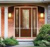 Quadratischer oberster vorderer Eintrag-natürliche hölzerne Tür für Villadom