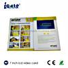 Best-sellers Hardcover LCD van 7 Duim de Video kaart-VideoKaart van de Groet brochure-Buiness