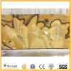 Полированный оранжевого цвета оникса мрамора для плитки&слоев REST&место на кухонном столе