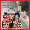 Le sac à main Croix-Piqué par hiver baroque de semaine de mode de qualité avec le sac à main fait main en cuir ouvre le sac