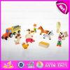 2015 jouets réglés de ferme éducative préscolaire pour des enfants, jouets réglés de ferme en bois bon marché pour des enfants, jouet animal W01A072 de Fram de jeu de rôle mini