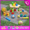 2015 mooi DIY Houten Dierlijk Stuk speelgoed voor Jonge geitjes, het Leuke Goedkope Houten Dier van het Stuk speelgoed voor Kinderen, het Grappige Dierlijke Stuk speelgoed W12D018 van de Slag van het Spel Houten