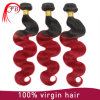 도매 Hair 1b/Red Ombre Bundles Hair Body Wave Human Hair