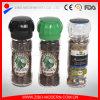 Sale e laminatoio e smerigliatrice di pepe di vetro con il coperchio di vetro di figura della zucca