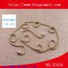 Oro dei monili di modo il doppio concatena la collana, catene della sfera dell'acciaio inossidabile
