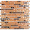 Het lineaire Mozaïek van het Glas van de Kogel Amber Metaal Foiled