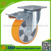 Doppelter Bremsen-Aluminiumkern-Polyurethan-industrielle Fußrolle