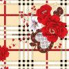 a dispersão de Rosa 3D do mel 100%Polyester imprimiu a tela para o jogo do fundamento