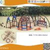 Structure en acier de plein air de l'escalade avec toboggan pour les enfants HX1503j