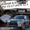 Casella di percorso del Android 6.0 per Lexus Lx570 2016 12.3 pollici di video casella dell'interfaccia