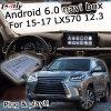 Sistema de Navegação GPS Android Lsailt caixa Lexus Lx570 2016 12,3 polegadas na caixa de interface de vídeo