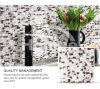 Graue Farbstreifen-Badezimmer-Fliese-Funkeln-Kristallglas-Mosaik-Fliese